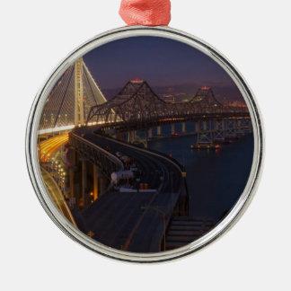 Two Bridges San Francisco–Oakland Bay Bridge Metal Ornament