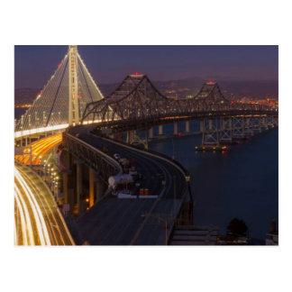 Two Bridges San Francisco–Oakland Bay Bridge Postcard