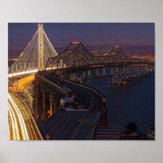 Two Bridges San Francisco–Oakland Bay Bridge Print