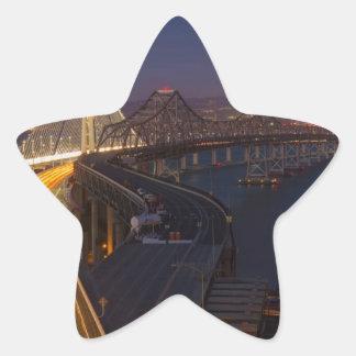 Two Bridges San Francisco–Oakland Bay Bridge Star Sticker