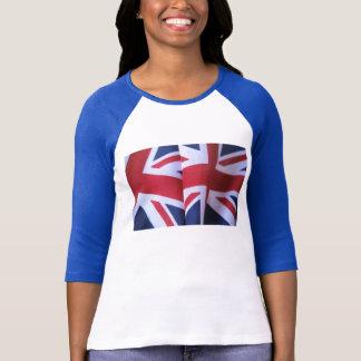 two British flags ladies raglan t-shirt