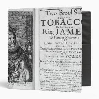'Two Broadsides Against Tobacco 3 Ring Binder