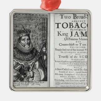 'Two Broadsides Against Tobacco Metal Ornament