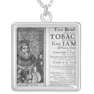 'Two Broadsides Against Tobacco Custom Necklace