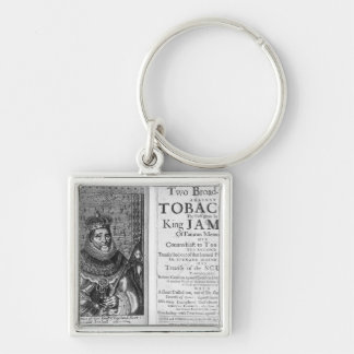 'Two Broadsides Against Tobacco Silver-Colored Square Keychain