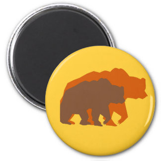 Two Brown Bears Magnet