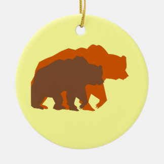 Two Brown Bears Ornament