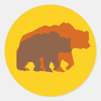 Two Brown Bears Sticker