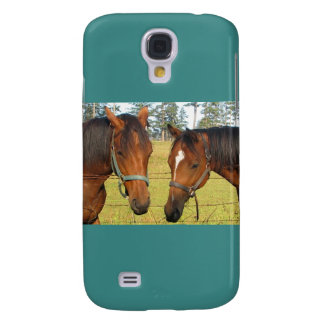 Two Brown Horses In A Field, Thoughtful Horses Samsung Galaxy S4 Covers