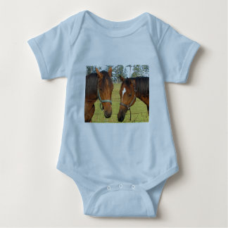 Two Brown Horses In A Field, Thoughtful Horses T-shirt