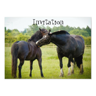 Two Brown Horses Invitation