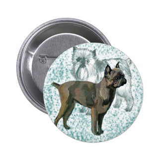 two brussels griffons button