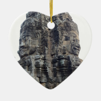 Two Buddhas of Ankor Wat .jpg Ceramic Ornament