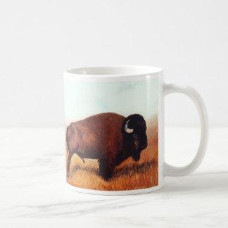 Two Buffalo Paintings Classic White Coffee Mug