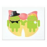 Two Bug Droids Wedding Attire Wedding Bells 4.25x5.5 Paper Invitation Card