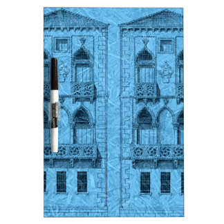 two buildings in blue Dry-Erase whiteboards