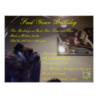 Two Bulldog Brand FEED YOUR BULLDOG Poster