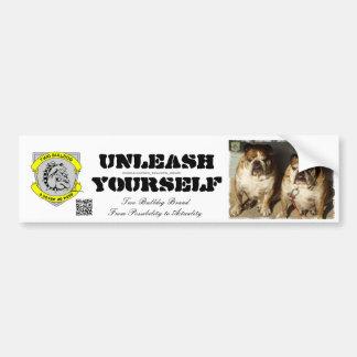 Two Bulldog Brand Unleash Yourself Bumper Sticker