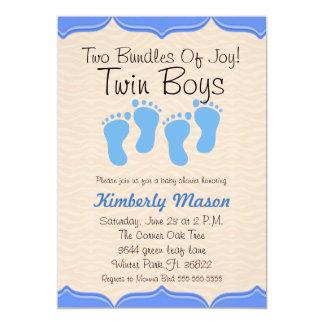 Two Bundles Of Joy Twin Boys Baby Shower Invite