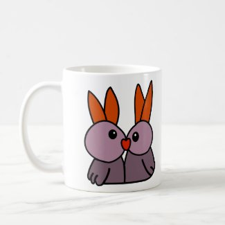 Two Bunnies In Love Coffee Mug