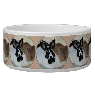 Two Bunnies Large Pet Bowl