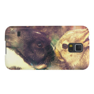 Two Bunnies, Rabit Photograph, Purple Magical Galaxy S5 Cover