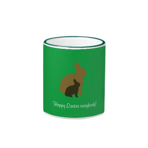 Two Bunnies Ringer Mug