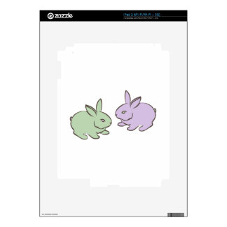 Two Bunnies Decal For The iPad 2