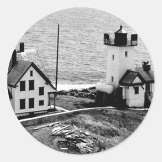 Two Bush Island Lighthouse Classic Round Sticker