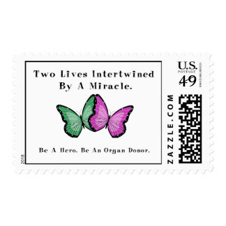 Two Butterflies Are One Postage Stamps