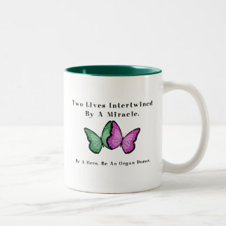 Two Butterflies Are One Two-Tone Coffee Mug