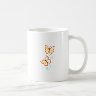 TWO BUTTERFLY APPLIQUES MUG