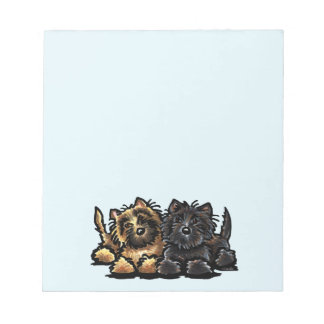 Two Cairn Terriers Notepad