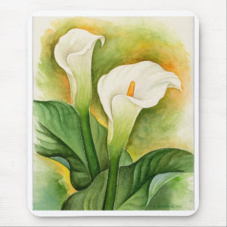 Two Cala Lilies Watercolor Art - Multi Mouse Pad