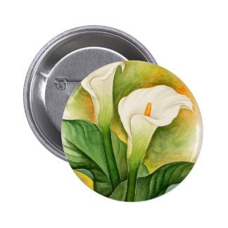 Two Cala Lilies Watercolor Art - Multi Pin