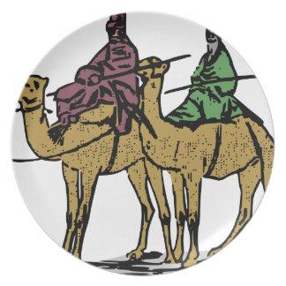 Two Camel Guys Melamine Plate