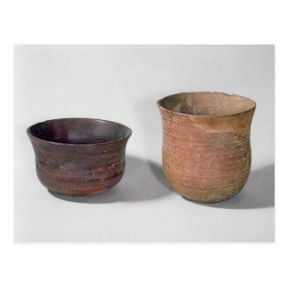 Two campaniform vases postcard