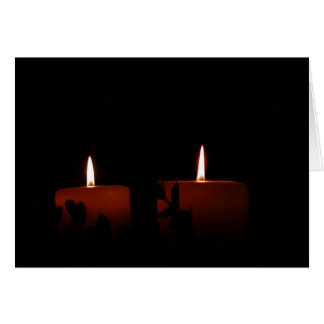 Two Candles Card
