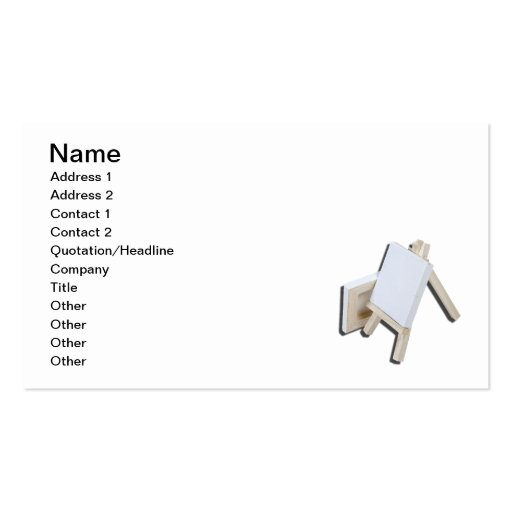 Two Canvas Easel Double-Sided Standard Business Cards (Pack Of 100)
