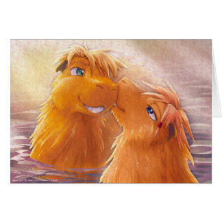 Two Capybaras Greeting Cards