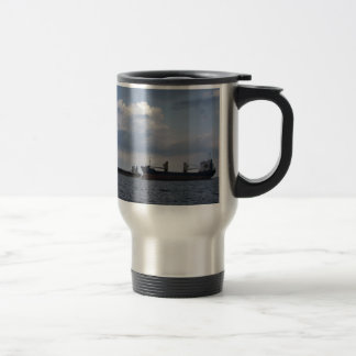Two Cargo Ships Travel Mug