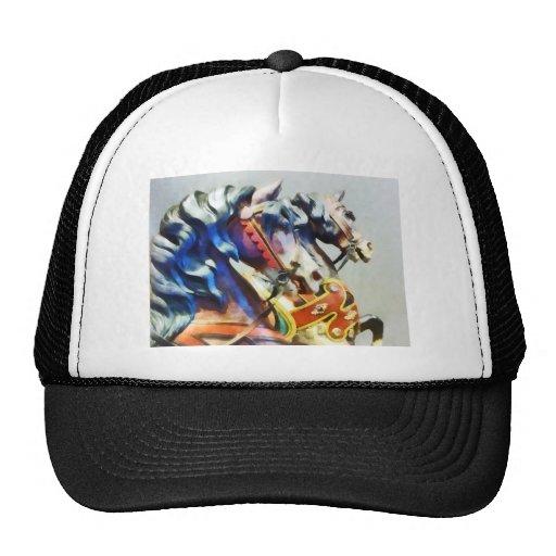 Two Carousel Horses Closeup Trucker Hat