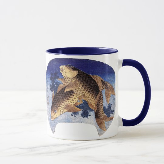 Two Carps, Hokusai Mug