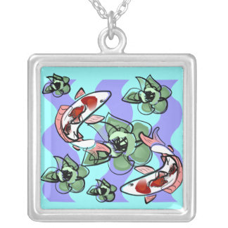 Two carps in the pond Necklace