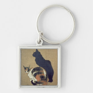 Two Cats, 1894 Keychain