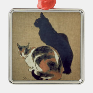 Two Cats, 1894 Metal Ornament