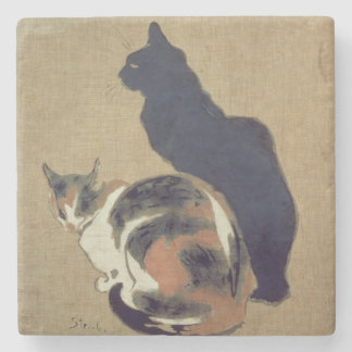Two Cats, 1894 Stone Coaster
