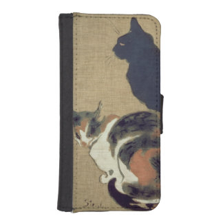 Two Cats, 1894 Wallet Phone Case For iPhone SE/5/5s