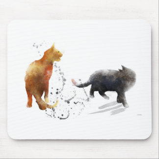 TWO CATS 2 - MOUSE PAD