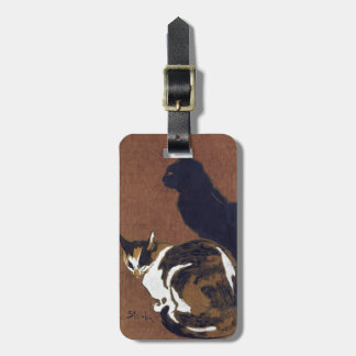 Two Cats, Alexandre Steinlen Bag Tag